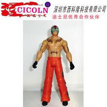 动漫仿真人物wwe人偶玩具摔跤手可动公仔注塑玩具 来图定制