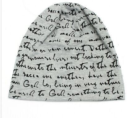 2018字母套头帽子情侣帽秋冬天薄款堆堆帽包头巾帽睡帽月子帽批发