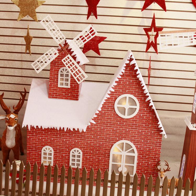 圣誕節雪房子