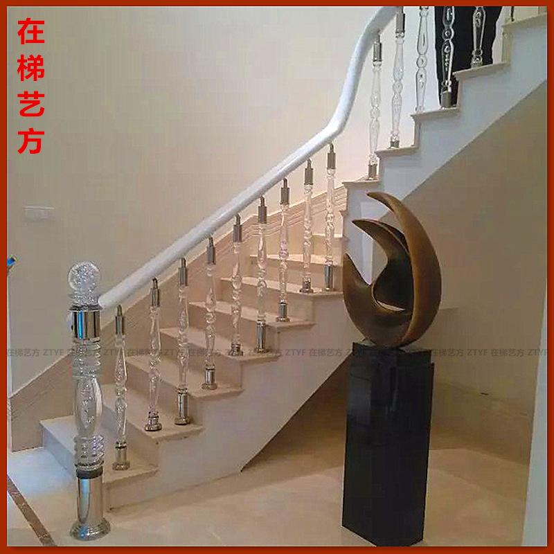 豪华水晶楼梯 亚克力楼梯柱 酒店楼梯 KTV水晶发光立柱