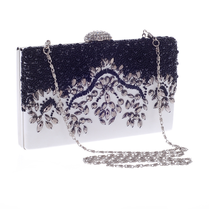 Beaded Embroidered Bag Austrian Rhinestone Evening Party Package Simple Evening Women's Bag NHYG178959