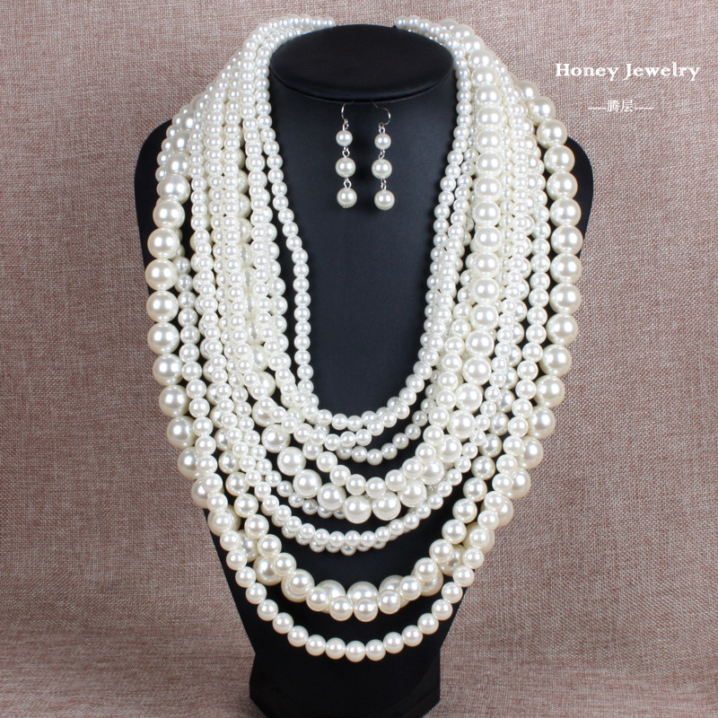 Occident and the United States pearlnecklace (creamy-white)NHCT0014-creamy-white