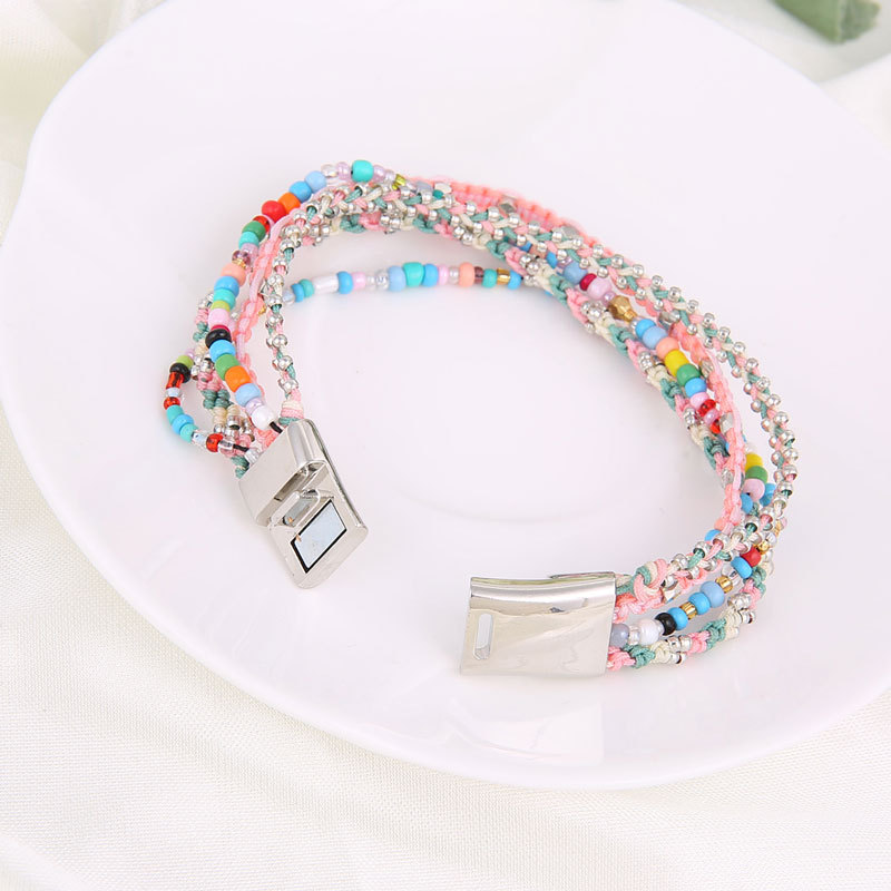 Titanium&Stainless Steel Fashion Geometric bracelet(Picture) NHHG0155-Picture