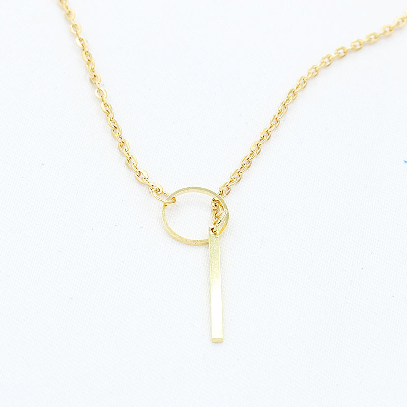 Simple Metal Necklace  NHDP314302