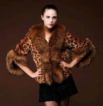 皮草 女一件代發2016新款進口仿狐貍毛皮草外套女士條紋女裝外套