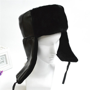 Severe cold autumn and winter new northeast cold middle-aged and elderly ear protection hat light board classic army green cloth dark brown Lei Feng hat