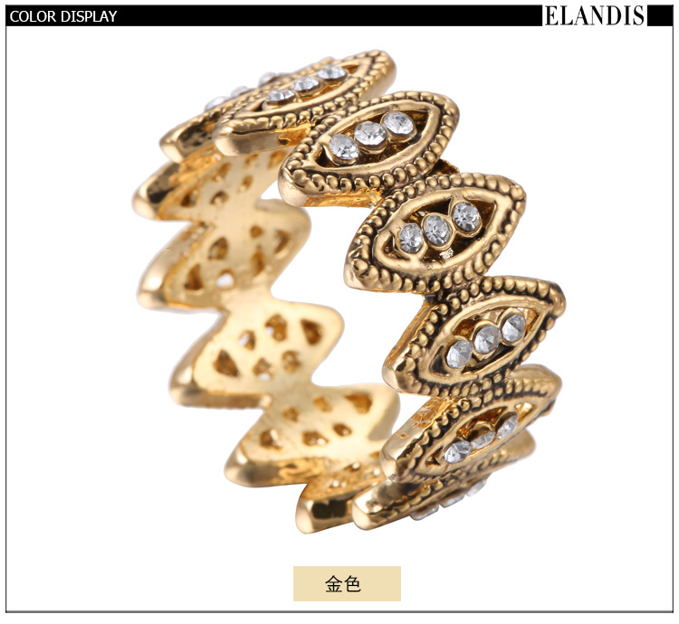 Alloy Fashion Flowers Ring  (Alloy US7MM) NHTF0223-Alloy-US7MM
