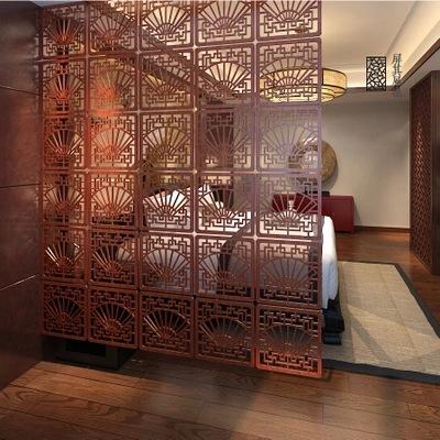客厅屏风中式仿古典实木雕花折屏办公卧室玄关门时尚镂空隔断帘子