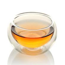 耐热玻璃茶具 双层玻璃品茶杯 手工玻璃防烫茶杯品茶杯闻香杯50ml