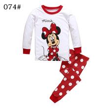 一件代發新款歐美外貿米妮兒童睡衣童家居服套裝女童套裝睡衣
