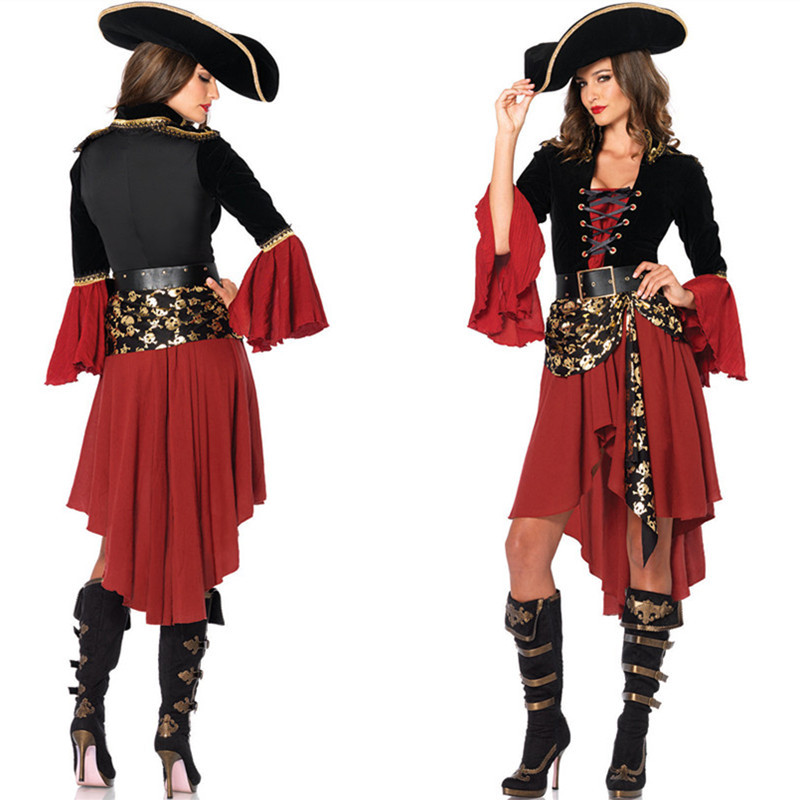 Sexy Pirate Costume Women Adult Halloween Carnival Costumes Fantasia