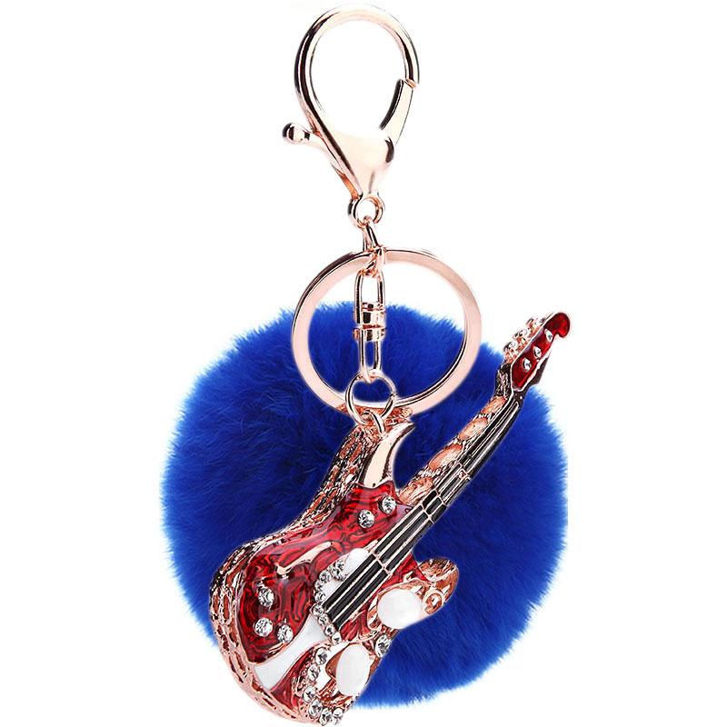 Fashion Rex Rabbit Hair Ball Keychain NHMM135254