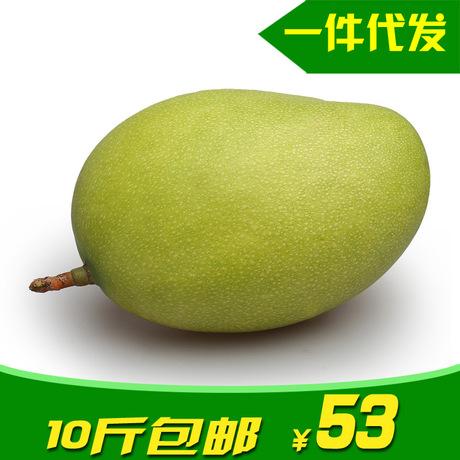 田到餐现摘攀枝花凯特芒果10斤包邮散装新鲜水果批发一件代发