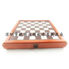 高檔實木木質棋盤國際象棋棋盤圍棋棋盤棋盤盒訂做紅木色棋盒