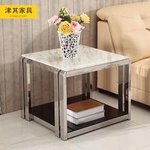 津其现代不锈钢大理石角几边几 时尚沙发边几小茶几 小桌子小方几