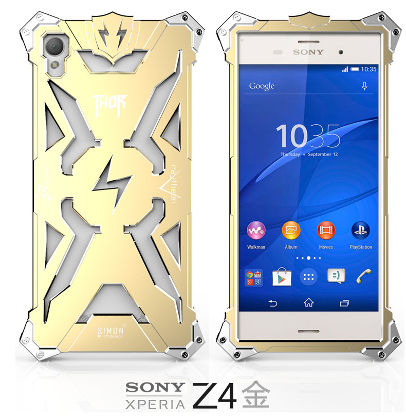 SIMON THOR Aviation Aluminum Alloy Shockproof Armor Metal Case Cover for Sony Xperia Z4 & Z3 & Z2 & Z1