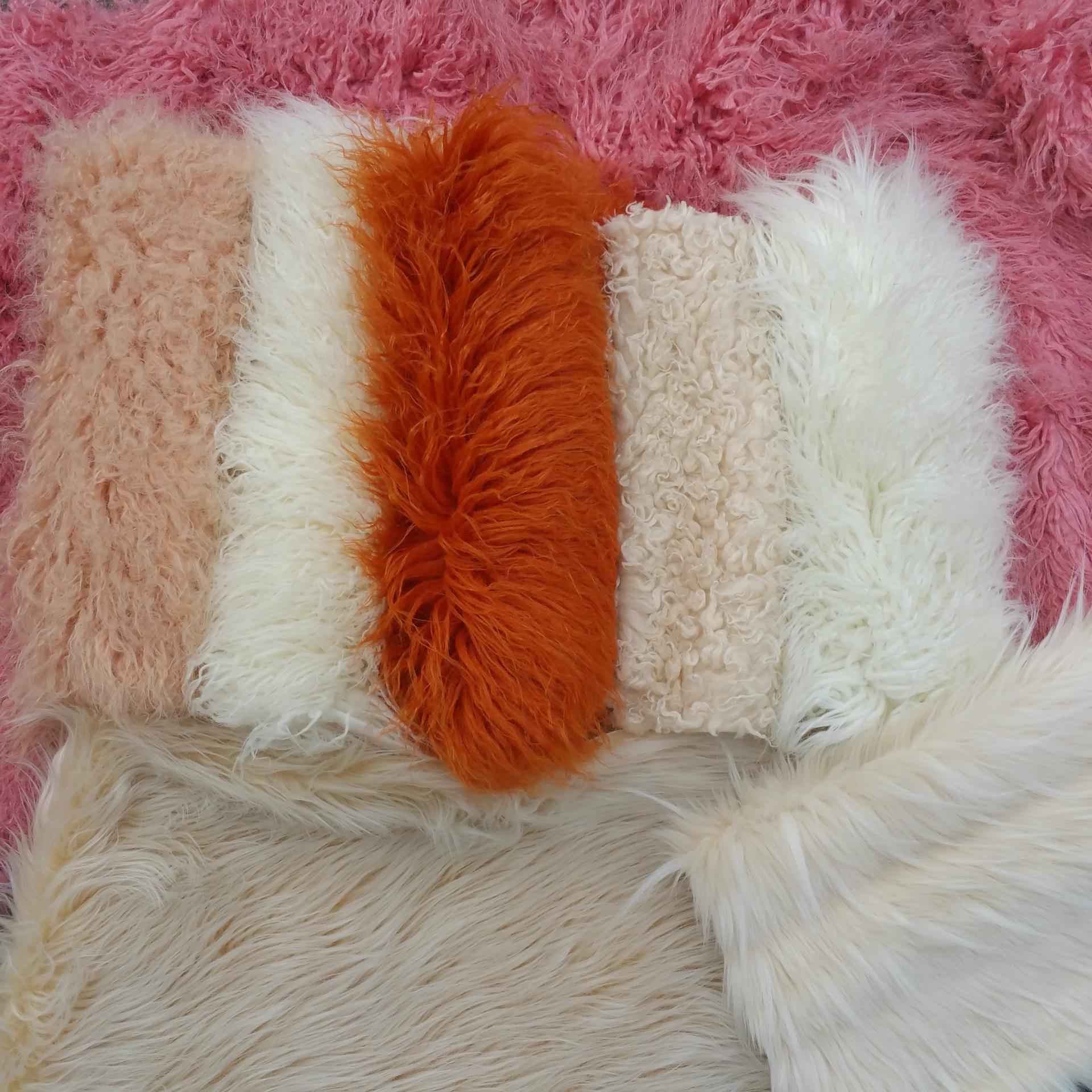 仿滩羊毛 仿羊卷毛 仿真羊毛 现货 毛草绒