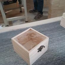 现货供应精品透明玻璃盖永生花盒多肉木盒木质多肉礼盒定做木盒
