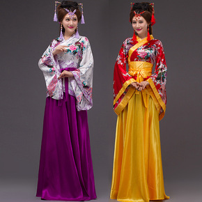Han costume ancient fairies stage costumes chorus Hanfu dance costumes
