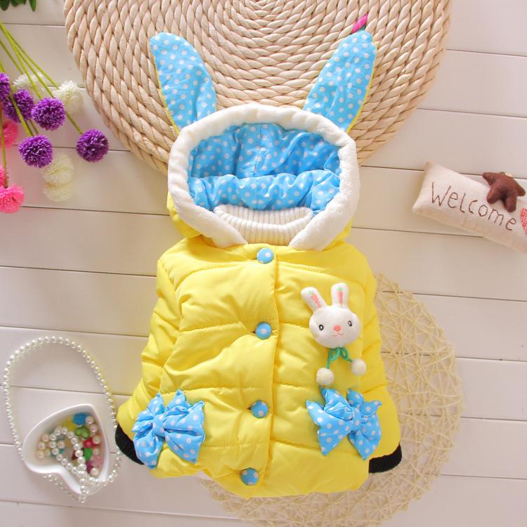童装棉袄冬新款 女童加厚儿童棉衣小清新点子厂家直销 外贸批发