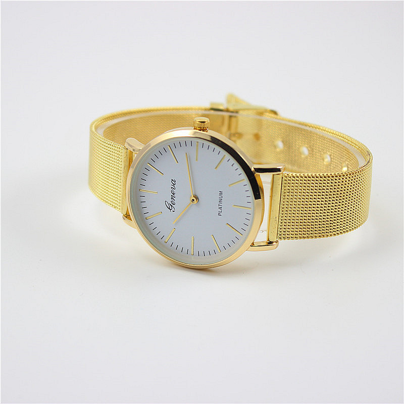 Mesh Belt Geneva Ladies Fashion Watch Business Leisure Style Golden Watch 159893 Kilimall Kenya