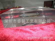 定制透明水晶膠樹脂內埋瑪瑙片工藝品紀念品商務禮品擺件