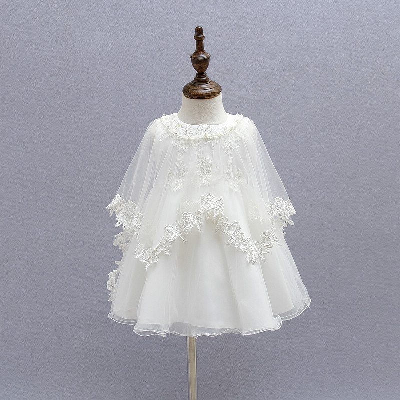 New Baptism Dress For Baby Girl Lace Ball Gown Baby Birthday Dress ...