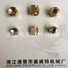 【廠家直銷】計量件銅螺母 單向閥螺帽  PN-4油管螺母接頭