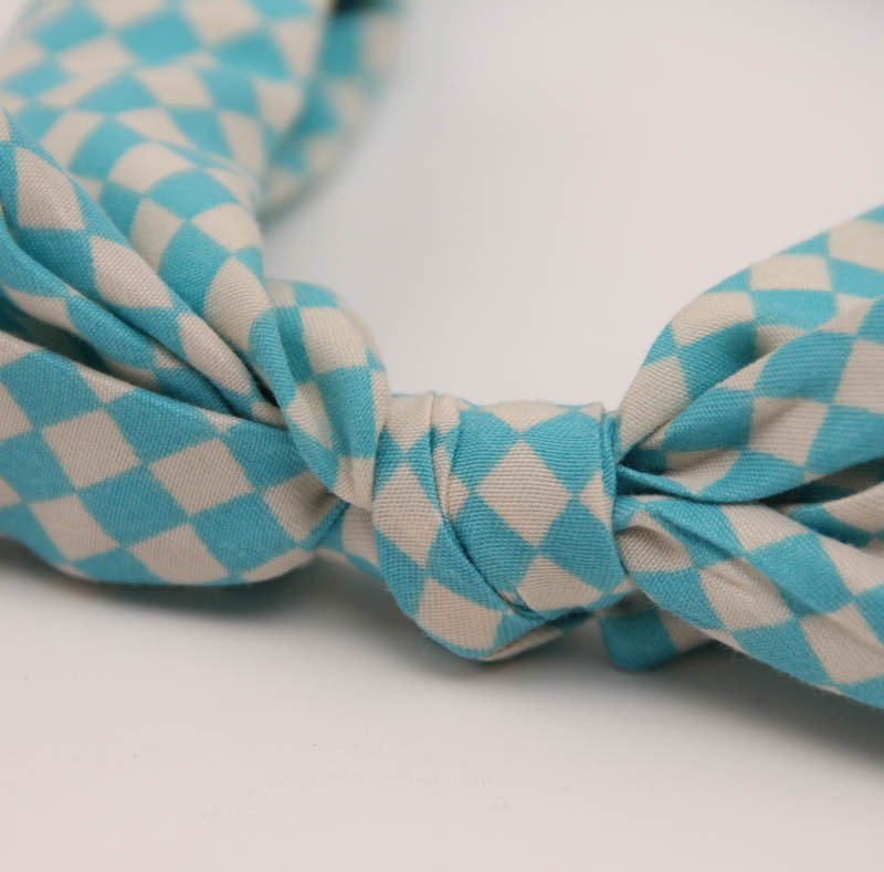 New cute baby children39s hair accessories cotton and linen stripes dot hair band baby headband wholesale NHDM214737