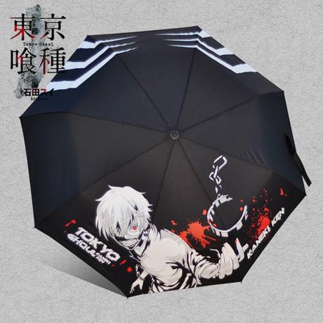 东京食尸鬼周边东京食种金木研雨伞多款动漫三折雨伞批发代发