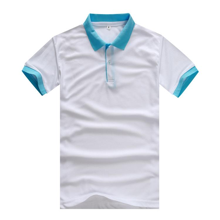 现货夏季工作服定做 员工翻领工作服定制 夏季短袖POLO衫厂服定制