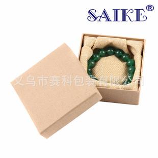 Spot wholesale linen pattern bracelet bracelet box jewelry box factory bracelet box bracelet box kraft paper box