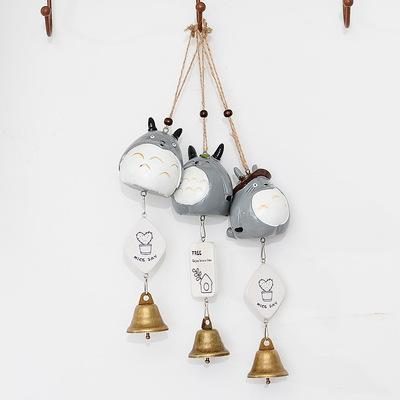 货源卡通猫铃铛风铃 浪漫祝福语个性礼物日式树脂门饰  汽车吊饰品批发