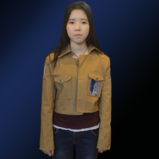 Wholesale Attack on Giant Investigation Corps Wings of Freedom Men's and Women's Coat Jacket Leather Skirt COSplay Costume