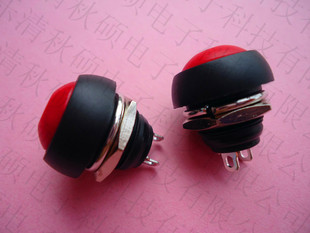 Small push button switch Round waterproof push button switch PBS-33B No lock reset horn switch 12mm