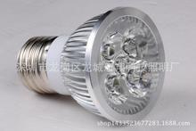 厂家直销LED灯杯 3W 4W 5W射灯GU10灯杯 超亮足瓦 恒流IC?#26102;?#20108;年
