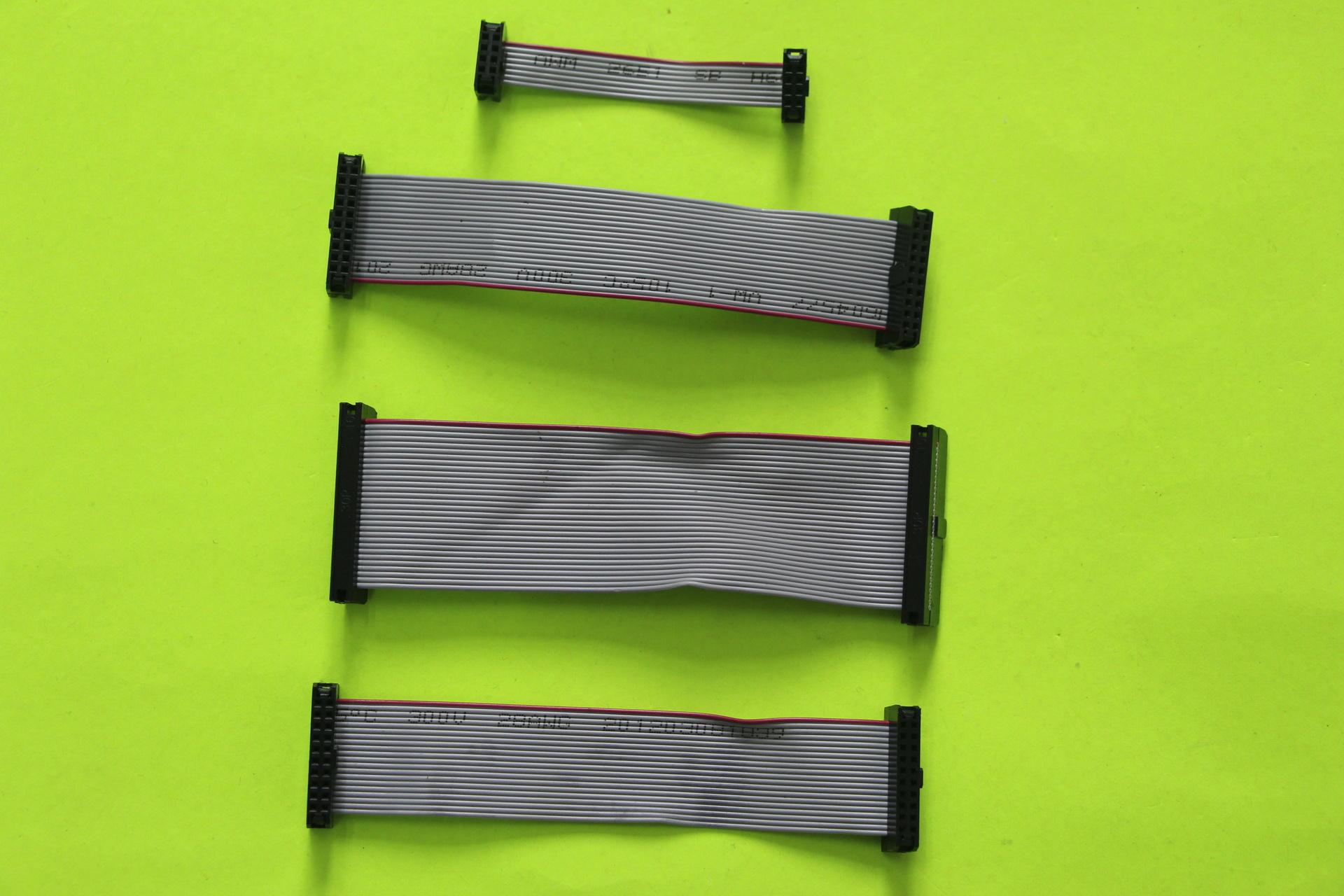 廠家供應 訂做 加工FC/FD IDC灰排線 端子線 牛角壓線2.54 10P