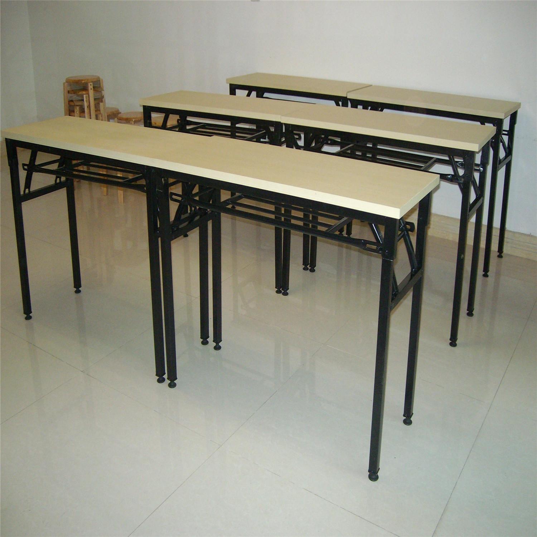 批发现代办公桌2020新款简约时尚钢架折叠条桌会议培训桌厂家直供