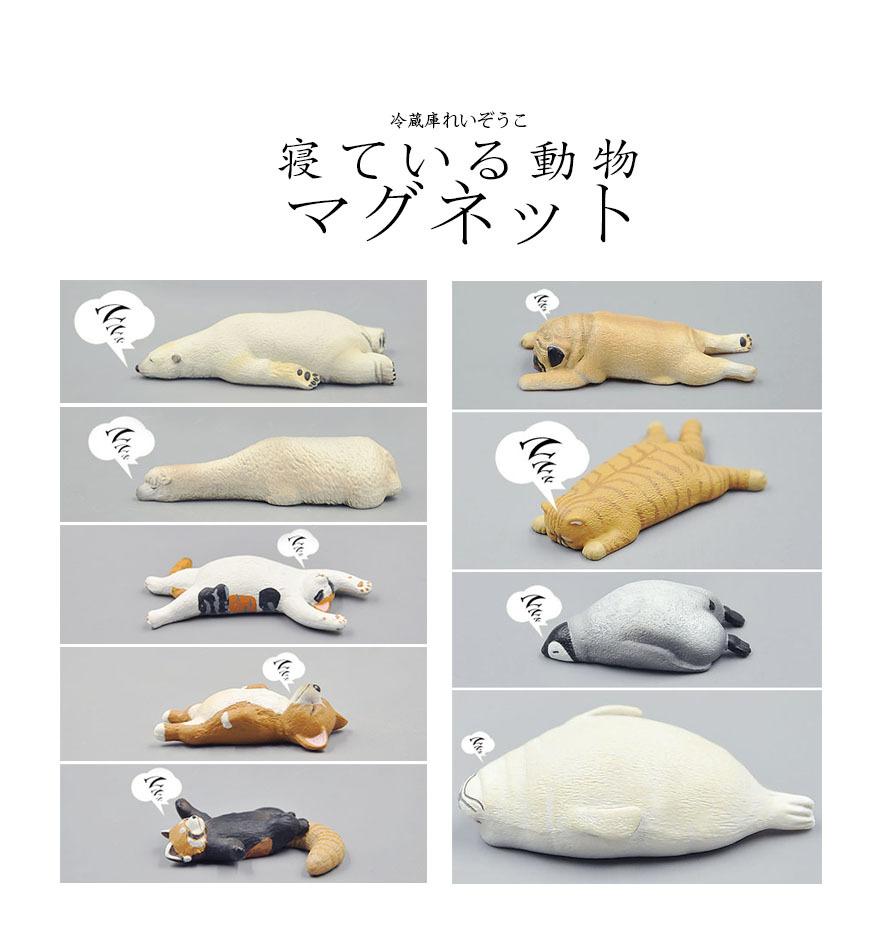 玩物尚志 日本正品扭蛋 睡觉 休眠动物 磁力冰箱贴 工厂直销批发