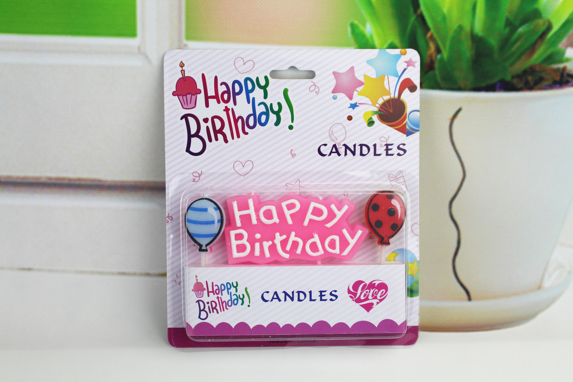 Wholesale new baby years old big 1 Digital candle Blue Pink smoke free candle cake decoration