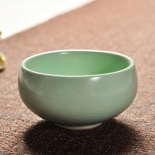 厂家直销高温还原汝瓷茶杯品茗杯禅定杯茶具配件可定制现货供应