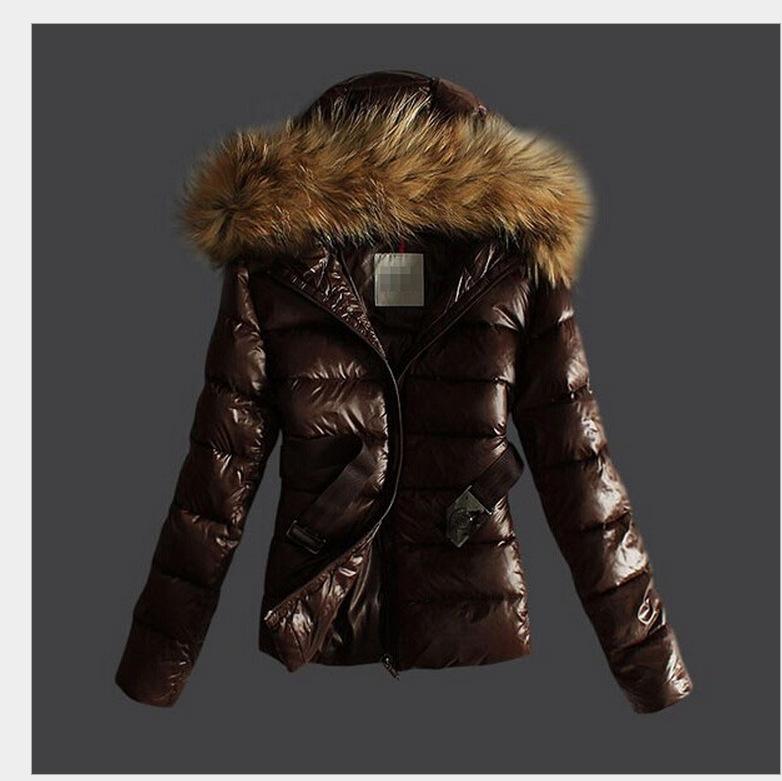 2018欧洲站冬季新款 貉子大毛领时尚修身羽绒棉衣 爆款 一件代发