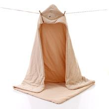 彩棉抱被 新生儿有机纯棉儿童秋冬季加厚宝宝睡袋防踢被 彩棉抱被