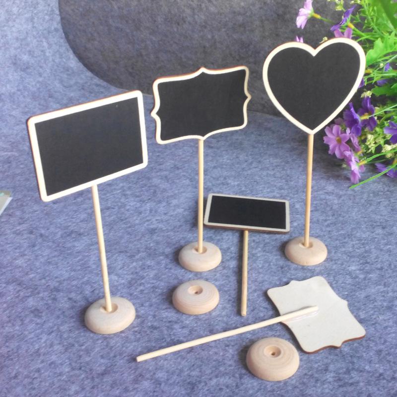 情人节装饰品吧台摆件创意小黑板创意家居手工艺品迷你多肉留言板