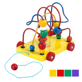 Boys, babies, early childhood education, trailers, beads, beading, baby intelligence toys, children's educational beads, 0-3-6 years old