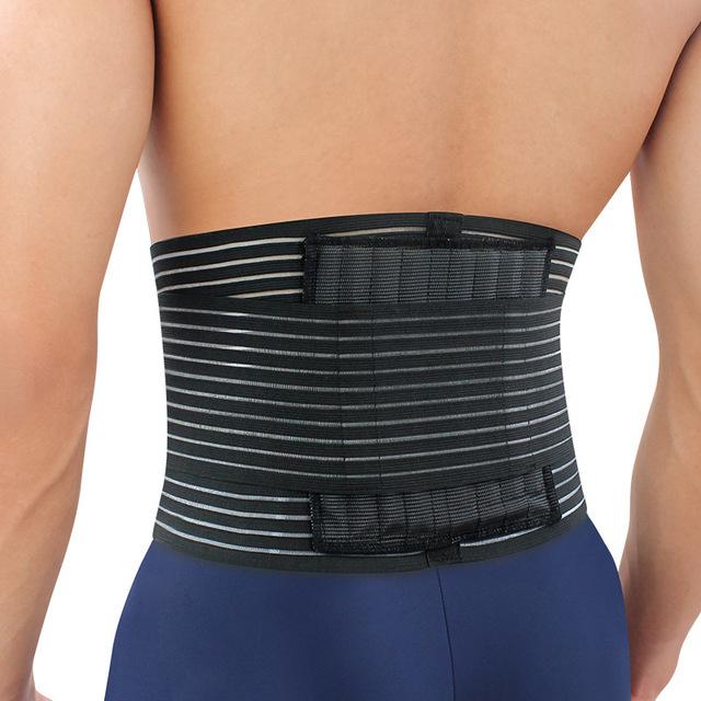 狂迷运动护具双层加压篮球护腰 透气护腰 久坐护腰带