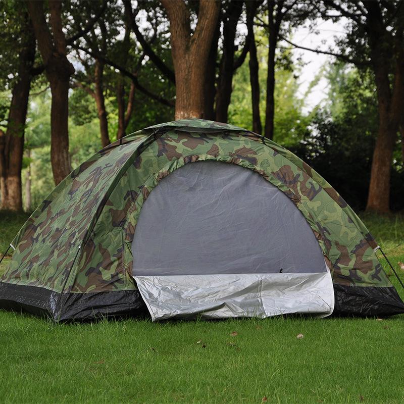野外数码双人迷彩帐篷 2人休闲帐篷 户外野营帐篷 露营帐篷