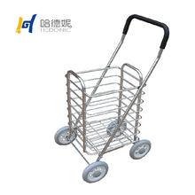 2015新款鋁合金購物車輕便購菜車便攜折疊買菜拖車四個大輪中號