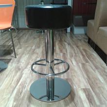 批发现代不锈钢皮制吧凳 定做酒吧高凳吧椅新款餐厅吧凳家具直销