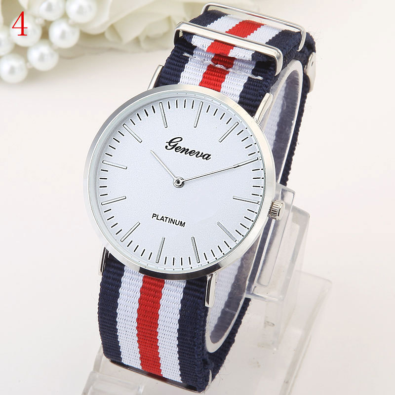 fashion Student watch (Red and blue and white 7 pattern)NHMM1888-Red and blue and white 7 pattern